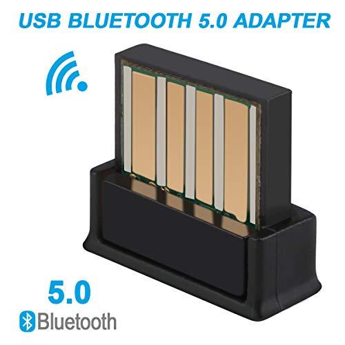 USB Bluetooth Adapter 5.0ラップトップPCオーディオサポート用ワイヤレスレシーバー転送ドングルWindows 10 8.1 8 7 XP Vista