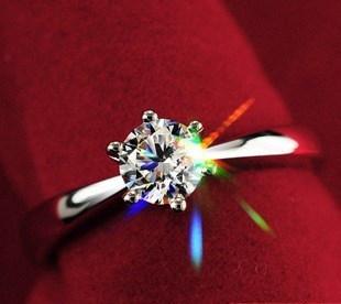 925スターリングシルバー6爪5mm AAAスイス矢印CZダイヤモンドリングジュエリー118-13-00961