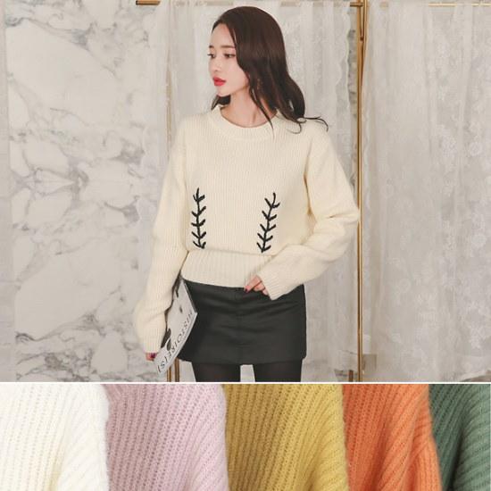 オッドTPI188ラブリー自首ディテールニット ニット/セーター/ニット/韓国ファッション