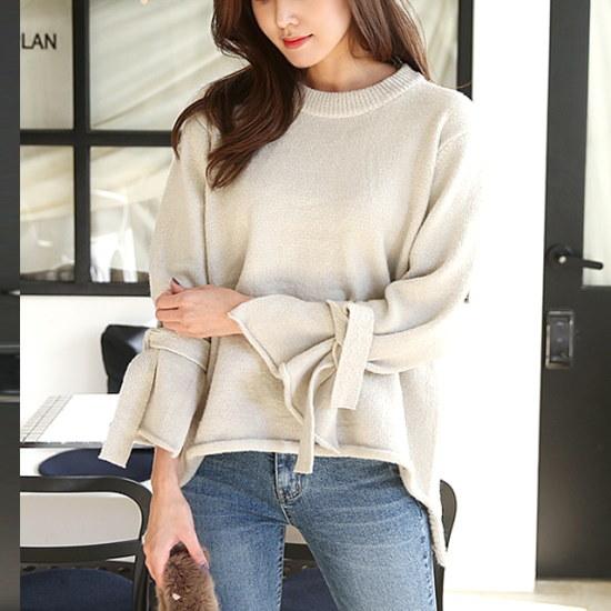 [さんエラ]セブンティーン小売リボンドルドルイニット ニット/セーター/ニット/韓国ファッション