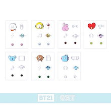 BTS (防彈少年團) BT21 x O.S.T Collaboration Official Goods : BT21 Silver Earring