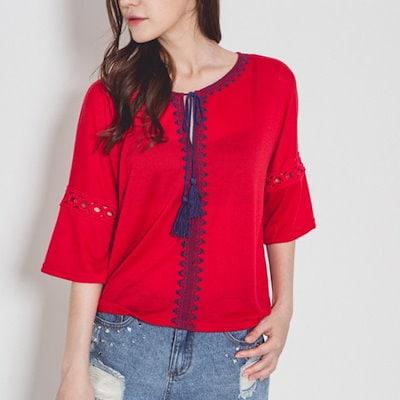 渓谷をテスルの飾りシャツ510660 ティーシャツ / ソリッド/無知ティーシャツ / 韓国ファッション