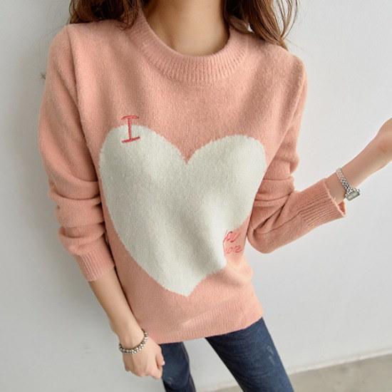 【ピピン]ラブリーポイントニット#104904 ニット/セーター/ニット/韓国ファッション