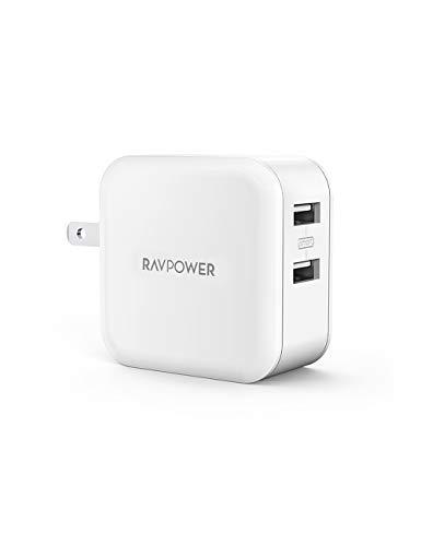 RAVPower USB 充電器 2ポート 24W アダプタ USB コンセント【PSE認証済み/急速/折畳式プラグ】 iPhone/iPad/Android 等のUSB機器対応 RP-UC11 (ホ