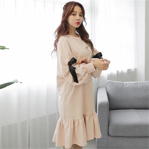 ヨハイム・バルーンワンピースnew 無地ワンピース/ワンピース/韓国ファッション