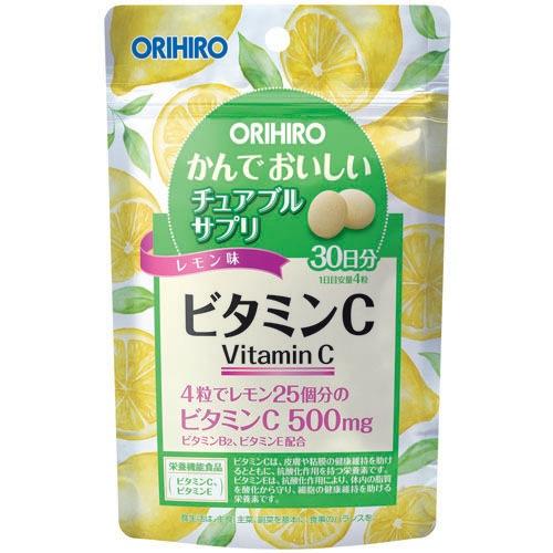 オリヒロ かんでおいしいチュアブルサプリ ビタミンC 60g 120粒