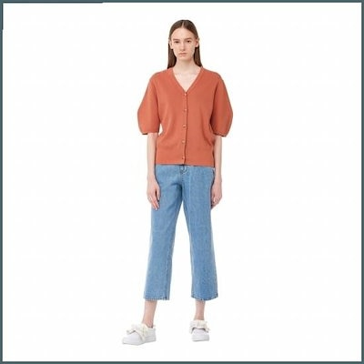 [ジコッ]ボタンブイネクカディゴン7218350002161 /女性ニット/カーディガン/韓国ファッション