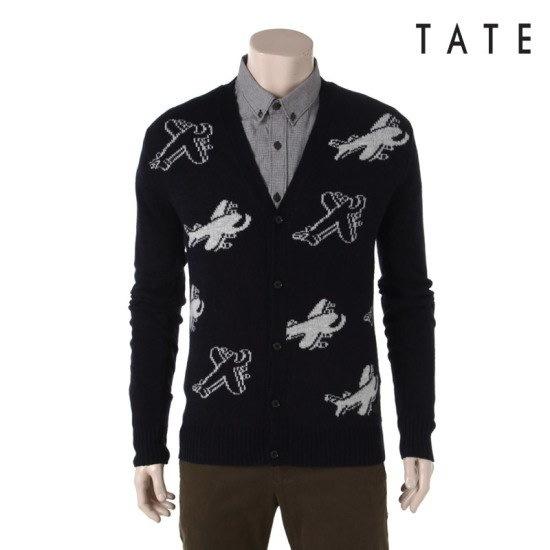 ・テイト・テイト男性パターンニットカディゴンKA4W0MSC010410 ニット/セーター/ニット/韓国ファッション
