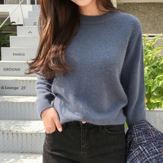チェリーココget crayon、knitC709PHKN68基本ニットアンゴラ泣くH25 ニット/セーター/韓国ファッション