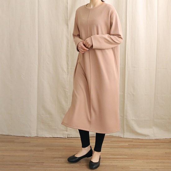 ビナインアンバーロングワンピース 綿ワンピース/ 韓国ファッション