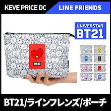 BT21 BTS 防弾少年団のキャラクターMesh Pouchメッシュポーチ/キャラクター選択/ BTS/公式グッズ/ BT21公式❤Followme/ k-pop star/ korea