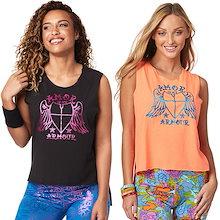 新着アイテム ZUMBA (ズンバ) LOVE Tシャツフィットネスウェア ダンスウェア ヨガウェア トレーニングウェア ZU1598