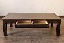 Dione 引出し付きセンターテーブル VGD-120 ブラウン(BR) ローテーブル長方形120×60cm  【幅120cm】 木製 引き出し2杯付き