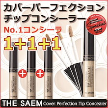 [THE SAEM/ザセム] カバーパーフェクションチップコンシーラー/シミ、そばかす、クマ/密着力/リキッドタイプ/韓国コスメ/odd beauty