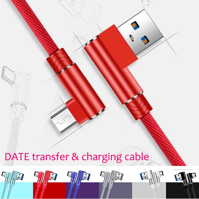 L字型充電ケーブル:急速充電対応 iPhone12動作確認 GALXYやXPERIAにも対応 USB充電ケーブル充電器 L型端子で折れ曲がらず絡まりにくい超頑丈ケーブルLightning/TYPE-C