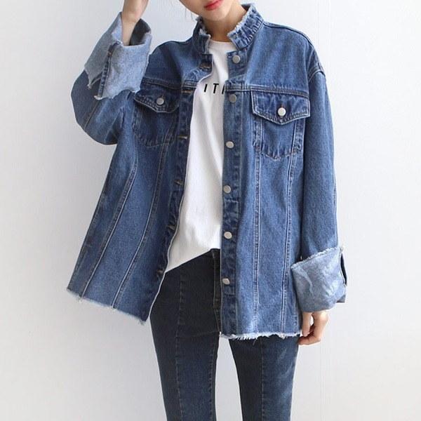 オボピッ数えることビンテージジージャンJK017D7 女性のジャケット / 韓国ファッション/ジャケット/秋冬/レディース/ハーフ/ロング/