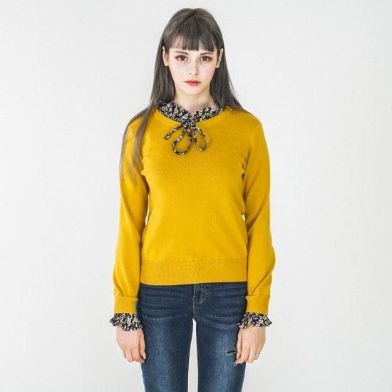 渓谷をウブンパッチニトゥタプ215710 ニット/セーター/韓国ファッション