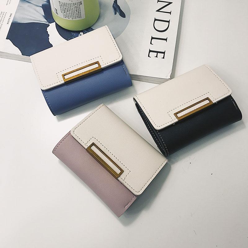 Liyaflying韓国ファッション二つ折り財布 超軽い財布 薄い財布 財布レディース小銭入れ コインケース カードケース 多機能 短財布 小銭入れありCY2622