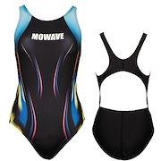 bd776c9cd4b MOWAVE モワビ スイムウェア スウィング ブルー ワンピース 水着 レディース 女性 フィットネス 水泳 競泳 体型カバー