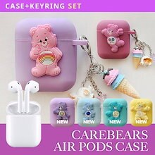 [AirPods Case] CareBears ケアベアケース6種 韓国ファッションケースイヤホンケース収納ケース保護防塵耐衝撃キズ防止落下防止のシリコン衝撃吸収