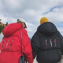 2018 新品 韓国ファッション 人気 男女兼用メンズ 中綿ジャケット 気質 ダウン綿 ブルゾン 暖かい アウター