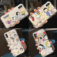 Snoopy 透明なスヌーピーケース iPhoneXrケース iPhoneXs Max ケースiPhoneXケース iPhone7ケース iphone8ケース IPHONEケースiphone6/6s