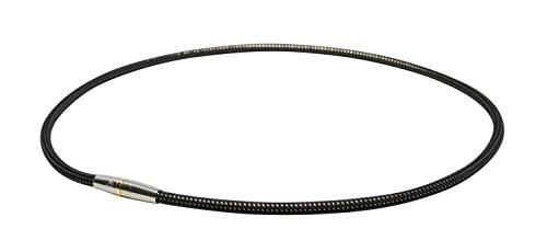 ファイテン(phiten) ネックレス RAKUWA 磁気チタンネックレス メタルトップ ブラック/シルバー 50cm