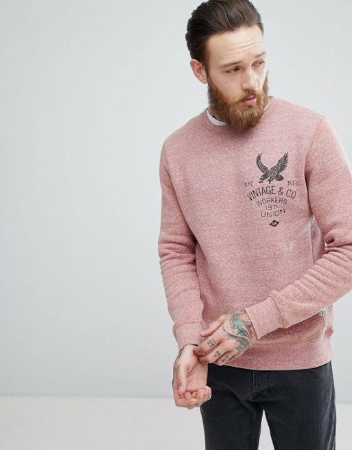 Jack & Jones Vintage sweatshirt With Graphic Print