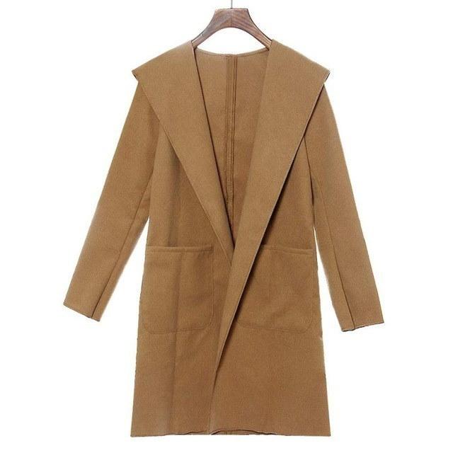 女性のカシミヤのコートエレガントな女性のロングスリーブ女性のセクシーなクラブウインドブレーカー服カーディガンコートファッション