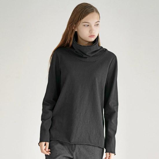 ルードRaw Edge TurtleneckBlackタートルネック ニット/セーター/タートルネック/ポーラーニット/韓国ファッション