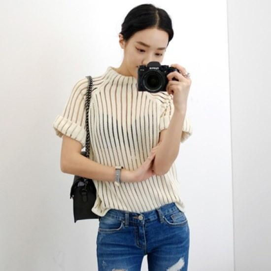 ホワイト・フォックスブルレッ・ニット ニット/セーター/ニット/韓国ファッション