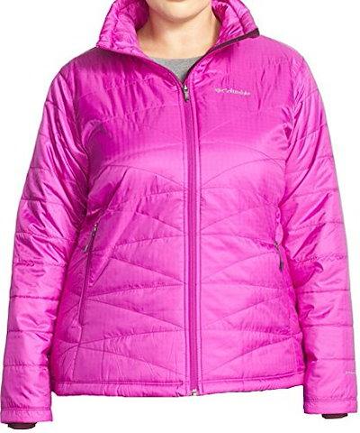 Columbia Womens PLUS Morning Light Insulated Omni-Heat Jacket PINK/FURSHIA (1X)