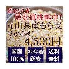 もち麦 国産 キラリモチ 【1kg×5袋】 チャック付