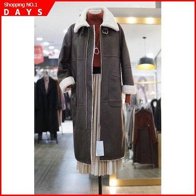 [リアンニューヨーク]Wモールリアンニューヨーク富大きいカラロング・ムスタングNALLC710 / パディング/ダウンジャンパー/ 韓国ファッション