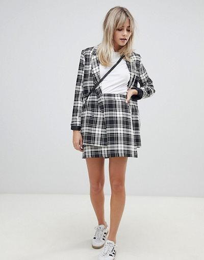 エイソス レディース スカート ボトムス ASOS DESIGN a-line mini skirt in mono check