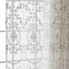 レースカーテン / 遮光 / 洗濯可能 /ヨーロッパの白刺繍Voileカーテン寝室シアーカーテンリビングルームチュールウィンドウ