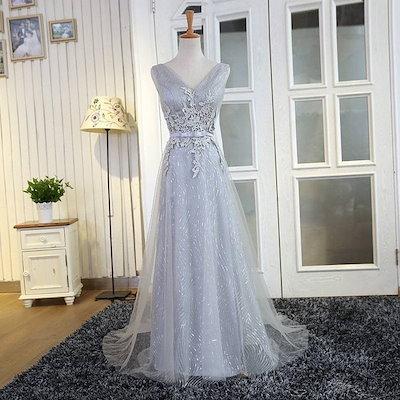 新作 ロングドレス ブライズメイド イブニングドレス 礼服 パーティードレス 結婚式披露宴 MFTFZ1A05