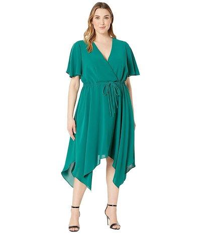 アドリアナ パペル レディース ワンピース トップス Plus Size Gauzy Crepe Tie Waist Dress