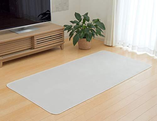 抗菌防臭 洗える カーペット 1畳『 WSセリゼ 』【IT-tm】約92×185cm アイボリー(#9810232) ホットカーペット対応