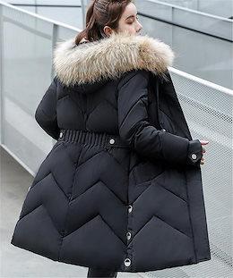 とてもファッション オシャレ 大人気 ダウンコート 怠惰な風 冬 中・長セクション トレンド 厚手 フード付き スリム