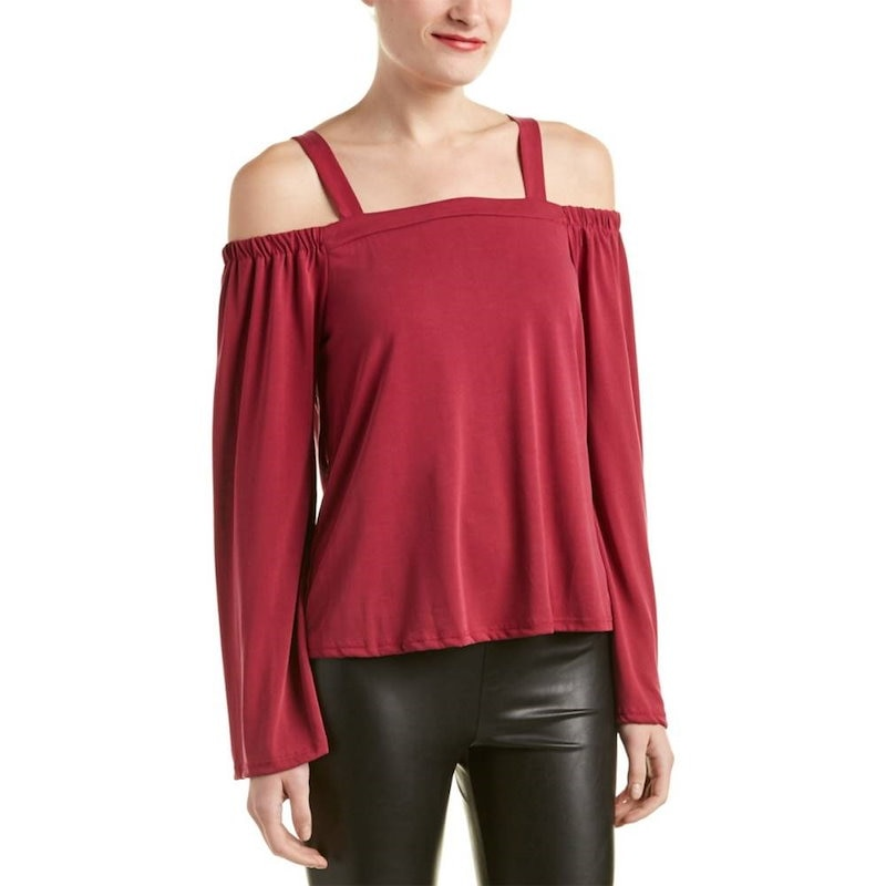 4SI3NNA レディース トップス ブラウス【4SI3NNA Cold-Shoulder Top】Red