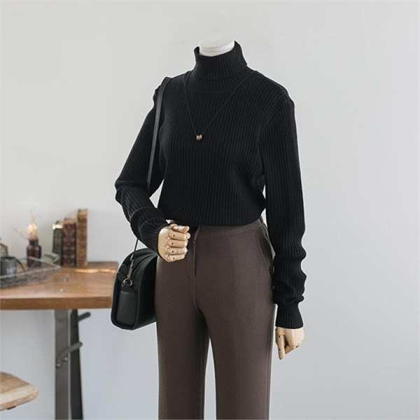 ビックサイズハローシスタードラドゴルジポルラニトゥnew 女性ニット/カーディガン/タートルネックニット/韓国ファッション