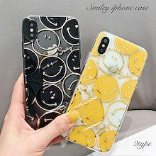 84fb50f464 iPhone XS XR ケース iPhoneXR iPhone8 iPhone7 携帯ケース iPhoneケース 韓国 スマホケース スマイル  ニコちゃん
