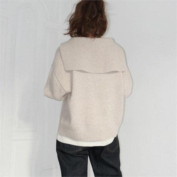デイリー・マンデーSailor collar wool knitニートnew 女性ニット/ Vネックニット/韓国ファッション