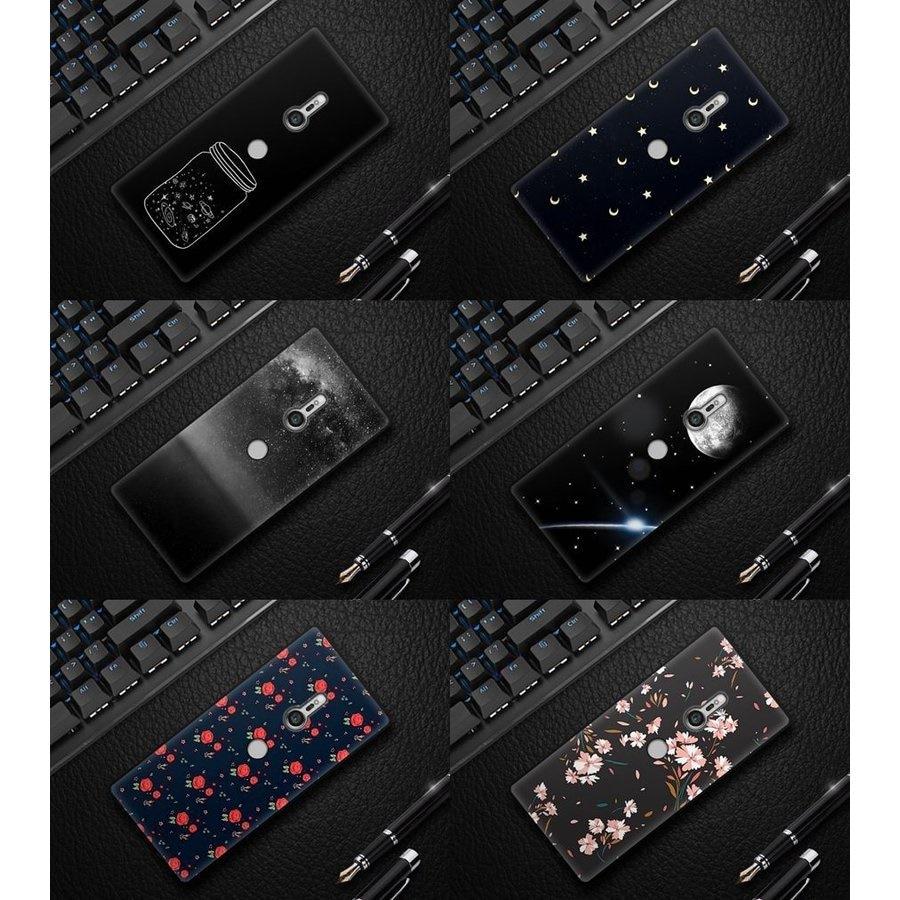 Sony Xperia XZ3 SOV39/801SO/SO-01L用ソフトケース/エクスペリア ワン XZ3背面カバーおしゃれ花柄ケー【J109-1】