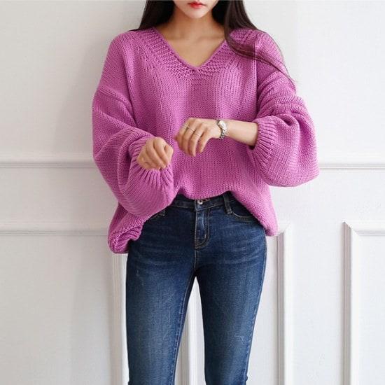イニクリラクセーションV KNITニート ニット/セーター/ニット/韓国ファッション