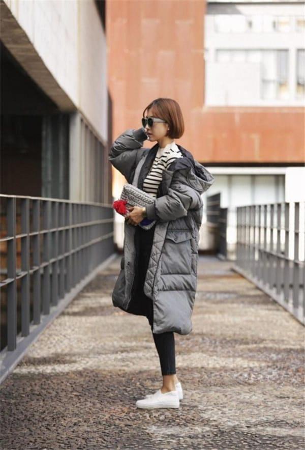 レディース ダウンジャケット ロング丈 欧米 超ロング 大きサイズ、フリーサイズ 厚手