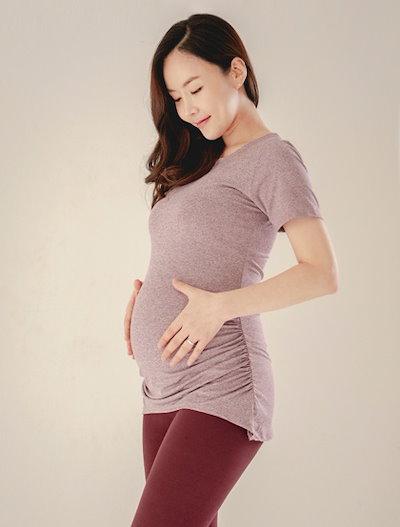 [ヨガ服、S114]シャーリング妊婦のヨガのスーツ半袖TシャツYT1087A女性ピラティス服