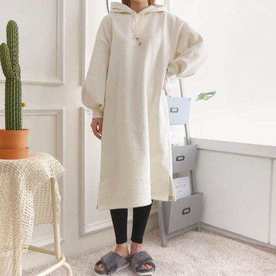 ピンクシスレーピッピ戦士起毛フードワンピース 綿ワンピース/ 韓国ファッション