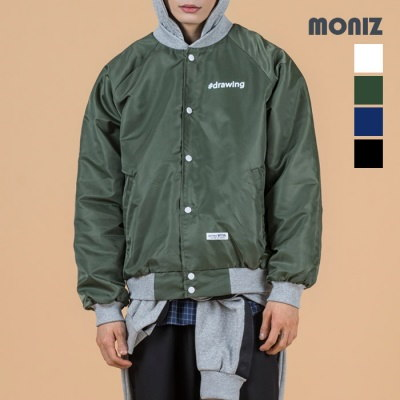 [Moniz] Heavy twill baseball jumper BJP301